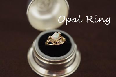 アンティーク Ring オパール 14Kリング  *2715