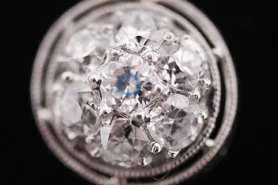 ルクルト 14K ダイヤモンド アンティークカクテルウォッチ