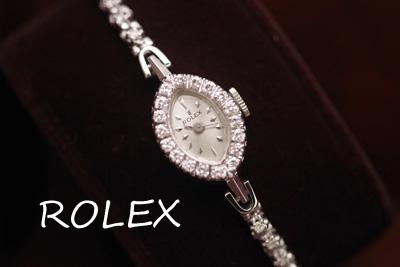 アンティーク ロレックス 14金ダイヤモンド テニスブレス