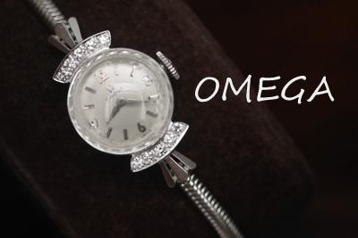 アンティーク オメガ OMEGA ダイヤモンド 14金 レディース