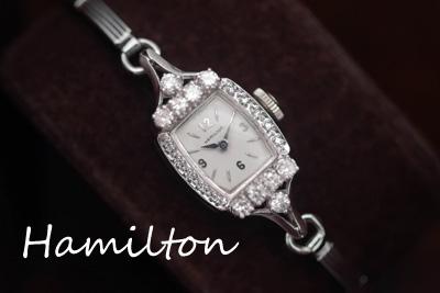 アンティーク hamilton ダイヤモンド 14金 レディース