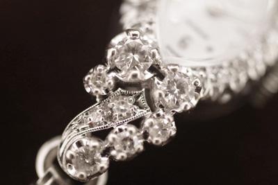 アンティーク クロトン 14K ダイヤモンド アンティークカクテルウォッチ*2651croton