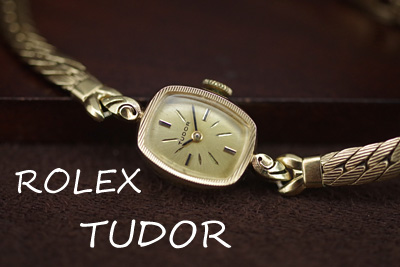 アンティーク Tudor チュードル 14K ダイヤモンド アンティークカクテルウォッチ