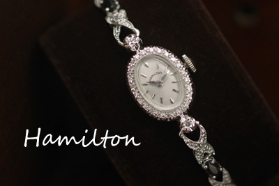 アンティーク ハミルトン 14K ダイヤモンド アンティークカクテルウォッチ*2675hamilton