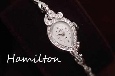 アンティーク ハミルトン 14K ダイヤモンド アンティークカクテルウォッチ*2678hamilton