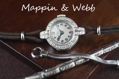 アンティーク mappin&webb アールデコ プラチナ ダイヤモンド