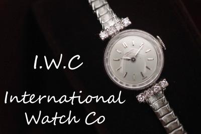 アンティーク International Watch Co インターナショナルウォッチ 18K ダイヤモンド *2709iwc