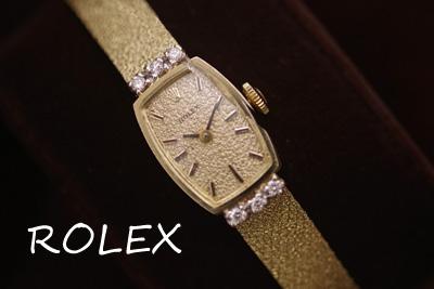 ロレックス 14K ダイヤモンド アンティークカクテルウォッチ