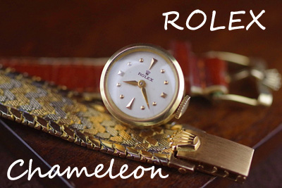 ロレックス 18金カメレオン 希少オリジナル18金ブレス付!*2735rolex