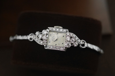 エルジン 14K 大粒ダイヤモンド アンティークカクテルウォッチ*2748elgin