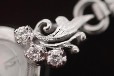 ブローバ 14K大粒ダイヤモンド アンティークカクテルウォッチ