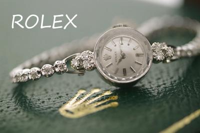 ロレックス 14Kダイヤモンド テニスブレス アンティークカクテルウォッチ