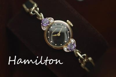 ハミルトン 14K ダイヤモンド アンティークカクテルウォッチ*2774hamilton
