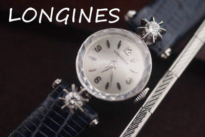 ロンジン 14金大粒ダイヤモンド アンティークカクテルウォッチ*2786longines