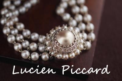 Lucien Piccard ルシアンピカール 14K ダイヤモンド&パール カバーウォッチ