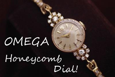 オメガ 14K大粒ダイヤモンド アンティークカクテルウォッチ