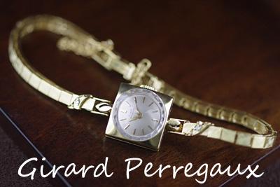 ジラール・ペルゴ 14K ダイヤモンド アンティークカクテルウォッチ