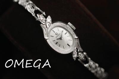 オメガ 14K ダイヤモンド アンティークカクテルウォッチ