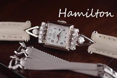 ハミルトン 14K大粒 ダイヤモンド アンティークカクテルウォッチ