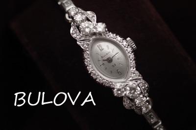 ブローバ 14K 大粒ダイヤモンド アンティークカクテルウォッチ*2904bulova