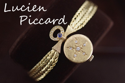 Lucien Piccard ルシアン・ピカール 14金ダイヤモンド&サファイア ギミック*2910piccard