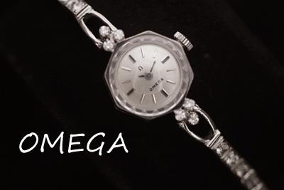 オメガ 14K ダイヤモンド アンティークカクテルウォッチ*2915omega