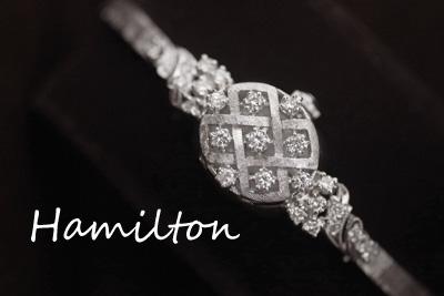 ハミルトン 14K ダイヤモンド アンティークカクテルウォッチ*2918hamilton