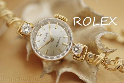 ロレックス 14K ダイヤモンド アンティークカクテルウォッチ*2924rolex