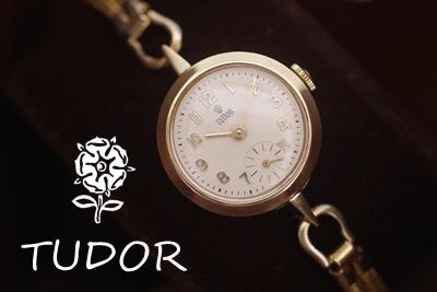 Tudor チューダー バラチュー イギリス製9金 スモセコ アンティークウォッチ*2933tudor