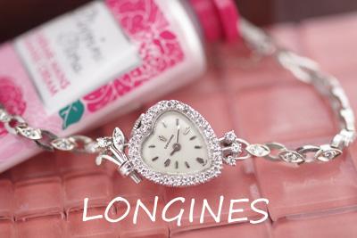 LONGINES ロンジン 14金ケース&ブレス ダイヤモンド 希少!ハート型 *2997longines