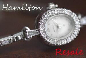 ハミルトン 14K ダイヤモンド アンティークカクテルウォッチ*hamilton815